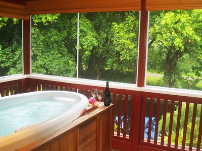 Riverhouse - Relax in the hot tub whenever you feel the need to relax and enjoy.