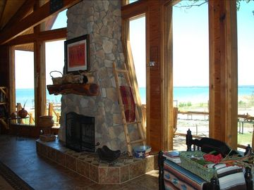 WOW 24 ft windows with a 7 mile lake view.