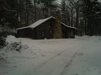 December snow blankets the north woods