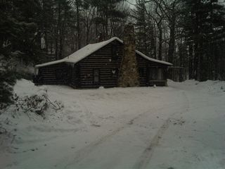 Honor cabin photo - December snow blankets the north woods