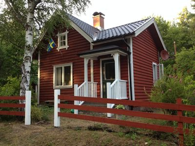 Lovingly prepared but flagman-house right on the river in southern Sweden's largest