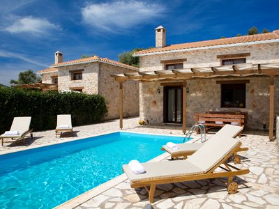 Chic & traditional stone villa with private swimmingpool pool near Sivota