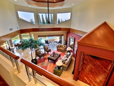 Looking down from second level (where Fourth Bedroom is located).