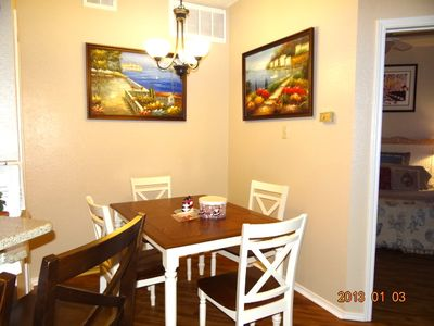 Corpus Christi condo rental - The beach view dining table. 1-03-2013