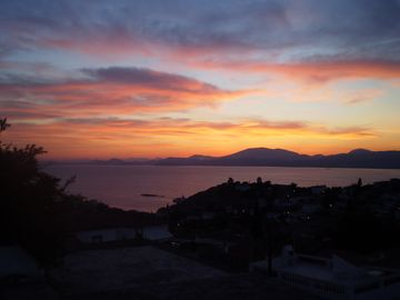 One of many different sunsets viewed from the terraces