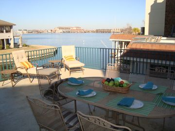Horseshoe Bay townhome rental - Large deck to relax, play and dine and enjoy the sunset.