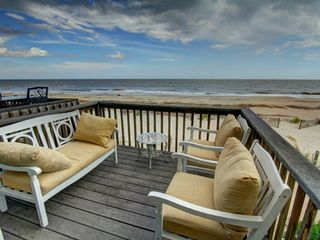 Tybee Island condo photo - Everyone likes to gather on the deck for lounging, that first cup of coffee.