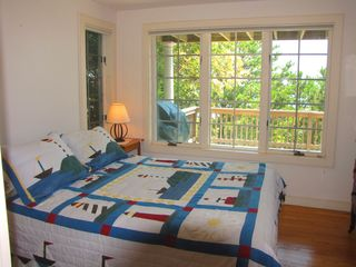 New Seabury house photo - queen master bedroom w/private bath, 1st floor