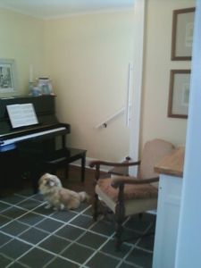 Handy Den/Music Room w/New Yamaha Piano, Desk & Room for a Rollaway Guest Bed