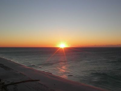 Sunrise from the balcony...it doesn't get better than this...