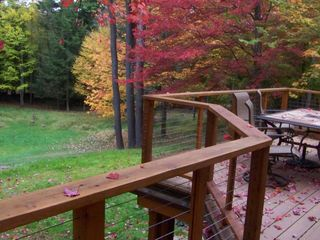 Woodstock cabin photo - Our front deck in the fall