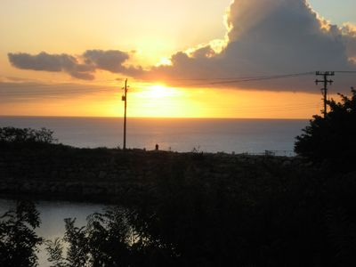 Westmoreland villa rental - Beautiful sunset view from terrace