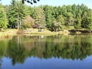 Boone cabin rental - Lake & Gazebo View - Spring & Summer