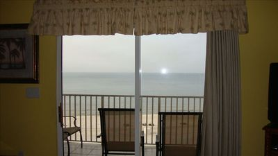 View of Beach from Inside Our Condo