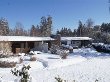 Die Bungalows im Winter
