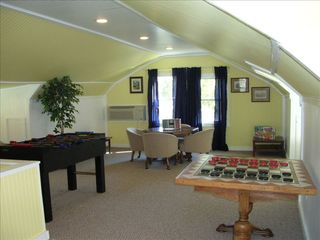 Chimney Rock cottage photo - Game Room with foosball and checkers. Lots of room to play.