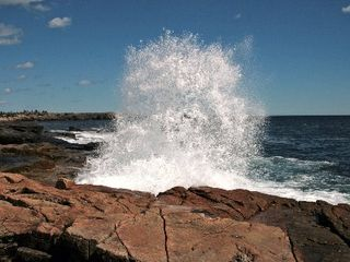 Prospect Harbor cottage photo - Surf at Schoodic in Acadia National Park.