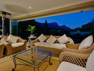 Constantia villa photo - Front Patio with Seamless retractable patio doors