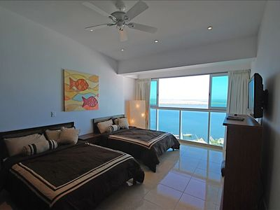Penthouse #3730 - Bedroom 2 of 4 & View - Two Double Beds