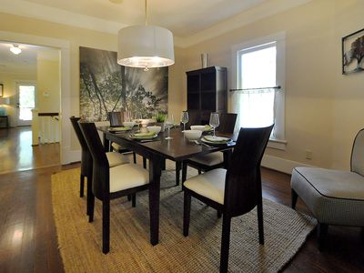 This large upstairs dining room is perfect for large or small gatherings. FUN!