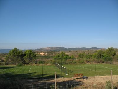 Carcassonne area chateau / country house rental - Tennis Court of La Couscouillette