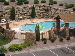 Branson condo photo - The heated May - Oct private resort outdoor pool is right nextdoor.