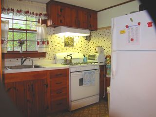 Mashpee house photo - Eat-in kitchen. THERE IS A TABLE IN HERE THAT SEATS 2*