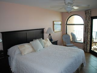 Wild Dunes condo photo - Lovely Master Bedroom with King & Glider Rocker!