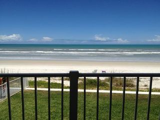 New Smyrna Beach townhome photo - Sitting on the balcony, looking at the ocean!