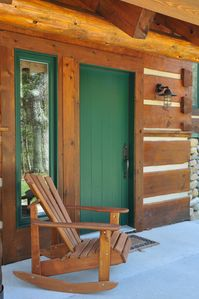 Rocking chair welcomes you to Nature's Cathedral Home
