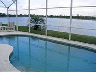 Kissimmee villa rental - Backyard Pool with lake view