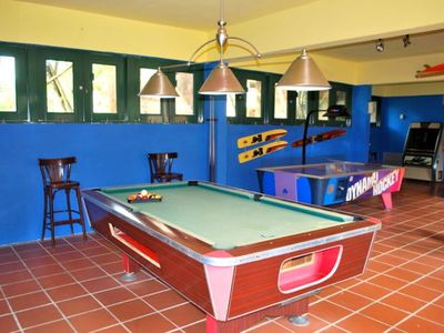"The ""Bunker"" game room at Dorado Beach East"