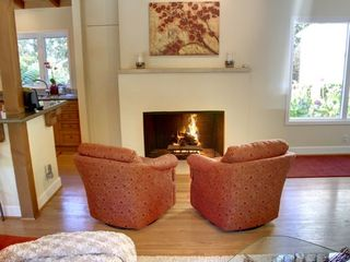 Pebble Beach house photo - Great Room with gas fireplace.