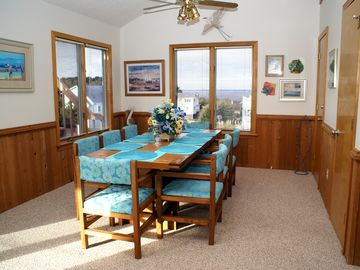 Dining room area w/ view of the Sound - table seats 8