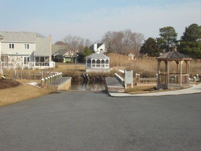 Community boat dock, gazebo and pier