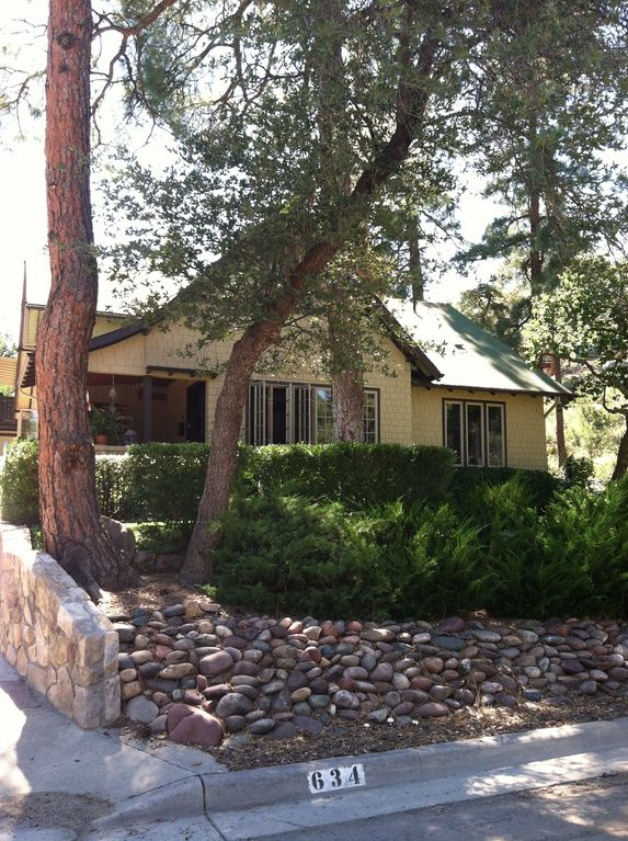 Front view of our Historic Bungalow Home, which is in front of The Artist's Loft