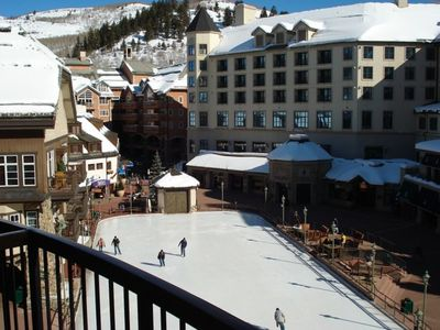 Skating Rink in the center of Beaver Creek Village