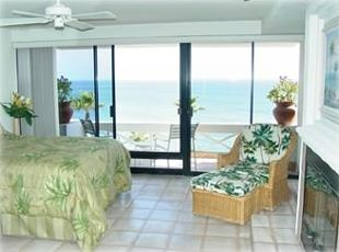 Master Bedroom &Deck- also has Fireplace, Cable TV, Entertainment center