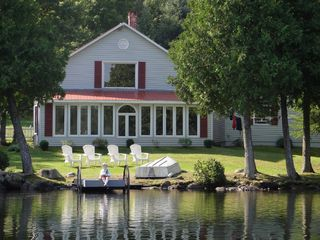 Glover house photo - Relax on the lawn, fish off the dock and enjoy use of the Rowboat or Canoe!