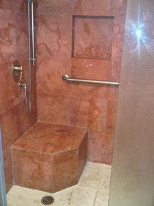 Shower with Handicap Access