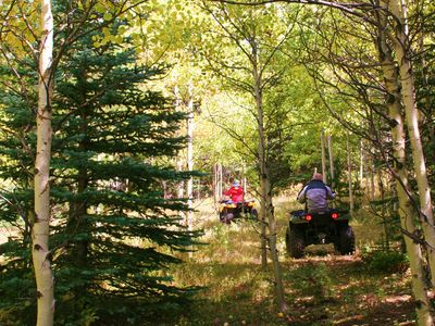 Early Fall- ATVing on Blue Sky Ranch's trails.