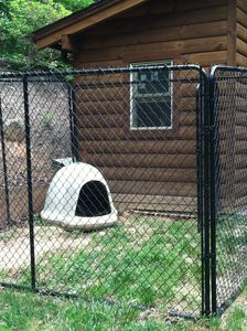 Outdoor kennel for your 4 legged family member to enjoy some mountain air!