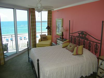 Master Suite with King Bed Overlooks The Beautiful Gulf w/wrap around Balcony
