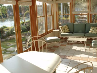 Sun room seating area.