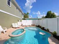High Tide is 3/2 Single Family Elavated Home with a Private Heated Pool!