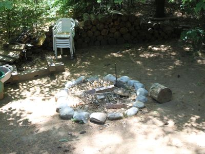 Outdoor fire pit area.