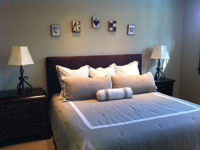 Master Bedroom - King bed, flat panel TV, attached bath