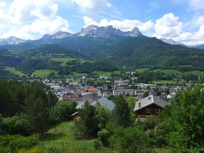 Beautiful apartment of 90m2 overlooking Barcelonnette. Panoramic View.
