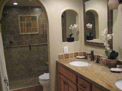 Dana Point condo rental - Casa Blanca- Master Bathroom