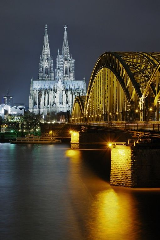 The Rhine and Cologne cathedral